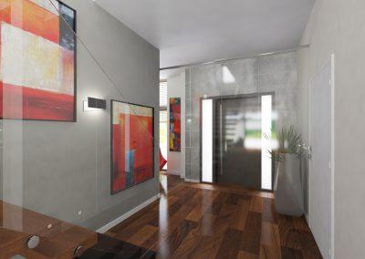Projektowanie wnętrz domu w Solcu Kujawskim - korytarz