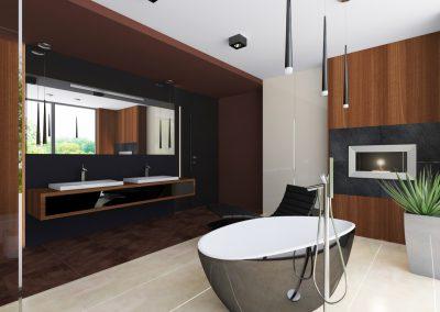 Projekt wnętrza domu w Solcu Kujawskim - luksusowa łazienka